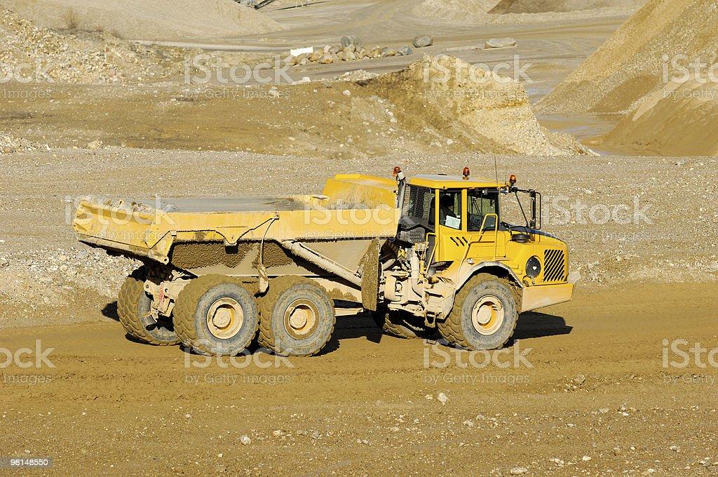 Giallo minerario dump truck foto stock royalty-free