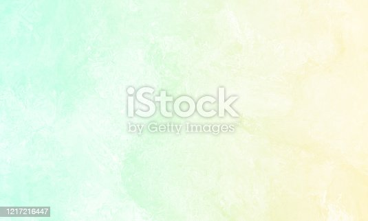 Yellow Mint Green Teal Turquoise Ombre Grunge Background Pastel Spring Pattern Abstract Stone Texture Copy Space Design template for presentation, flyer, card, poster, brochure, banner