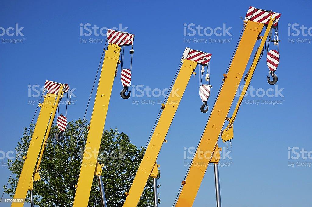 Yellow mobile crane royalty-free stock photo