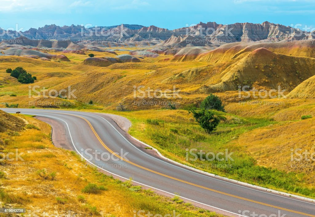 Yellow Mount Badlands National Park stock photo