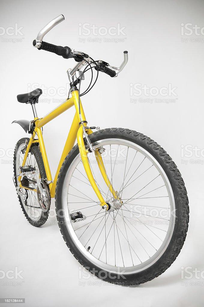Yellow Mountain Bicycle stock photo