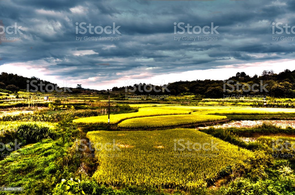 Yellow Mountains, Hongcun village, China stock photo