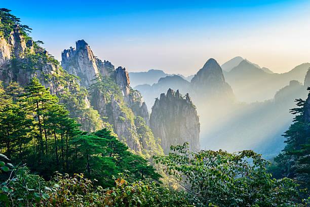 Yellow Mountains stock photo