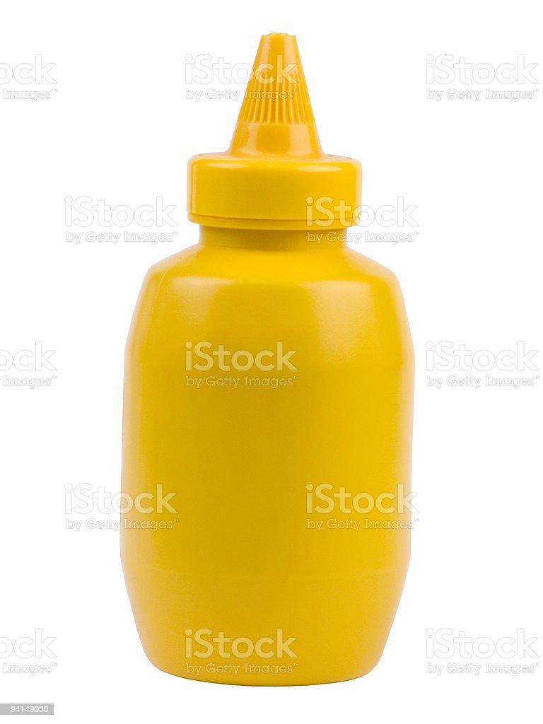 Yellow Mustard Bottle stock photo