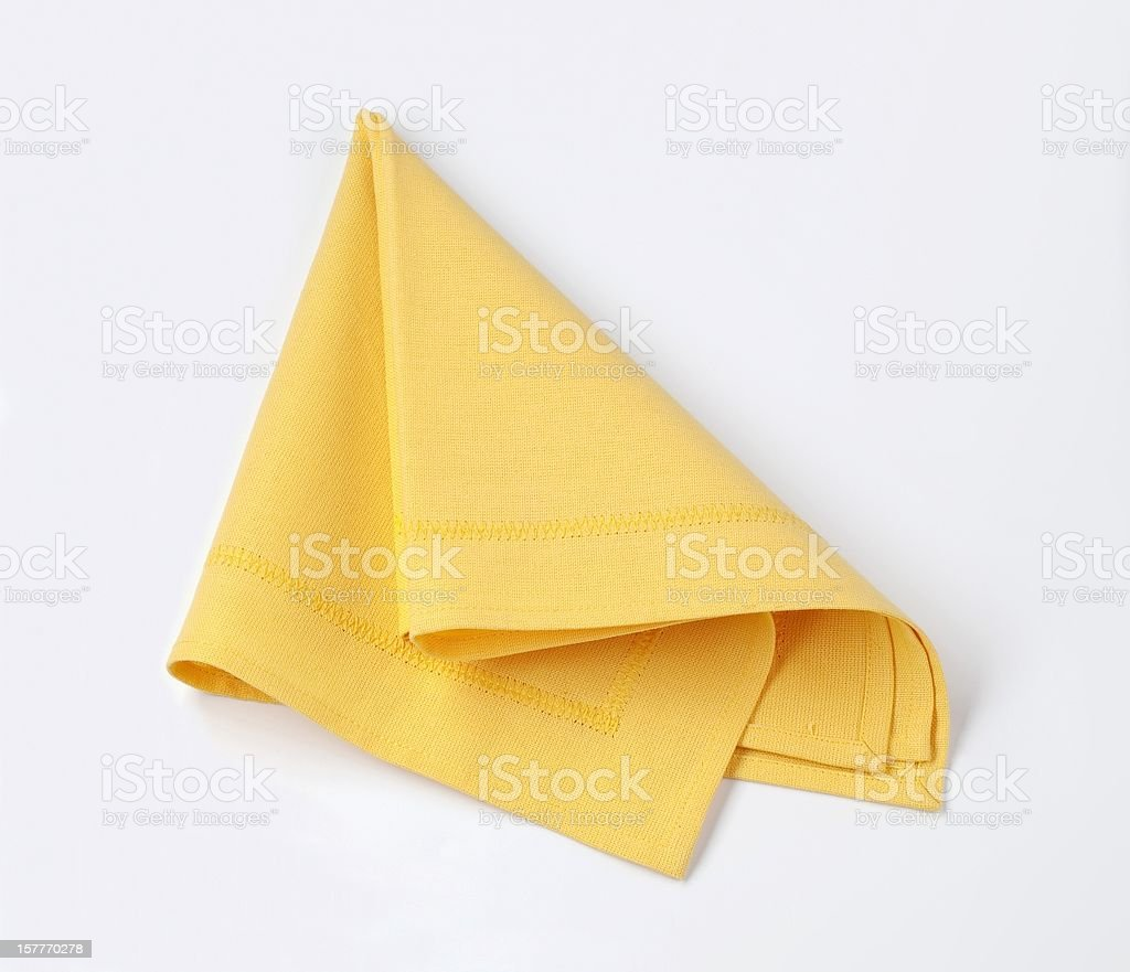 Yellow napkin stock photo