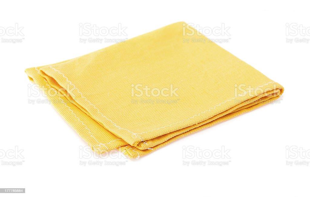 Желтый салфетка стоковое фото