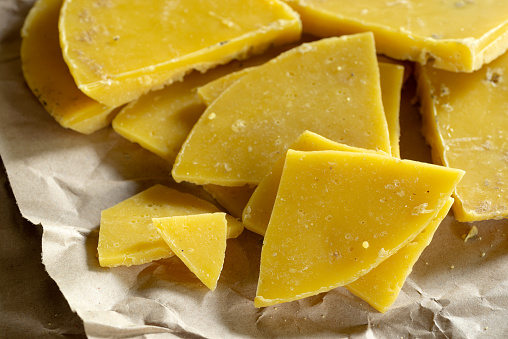 Yellow Natural Beeswax Stock Photo - Download Image Now
