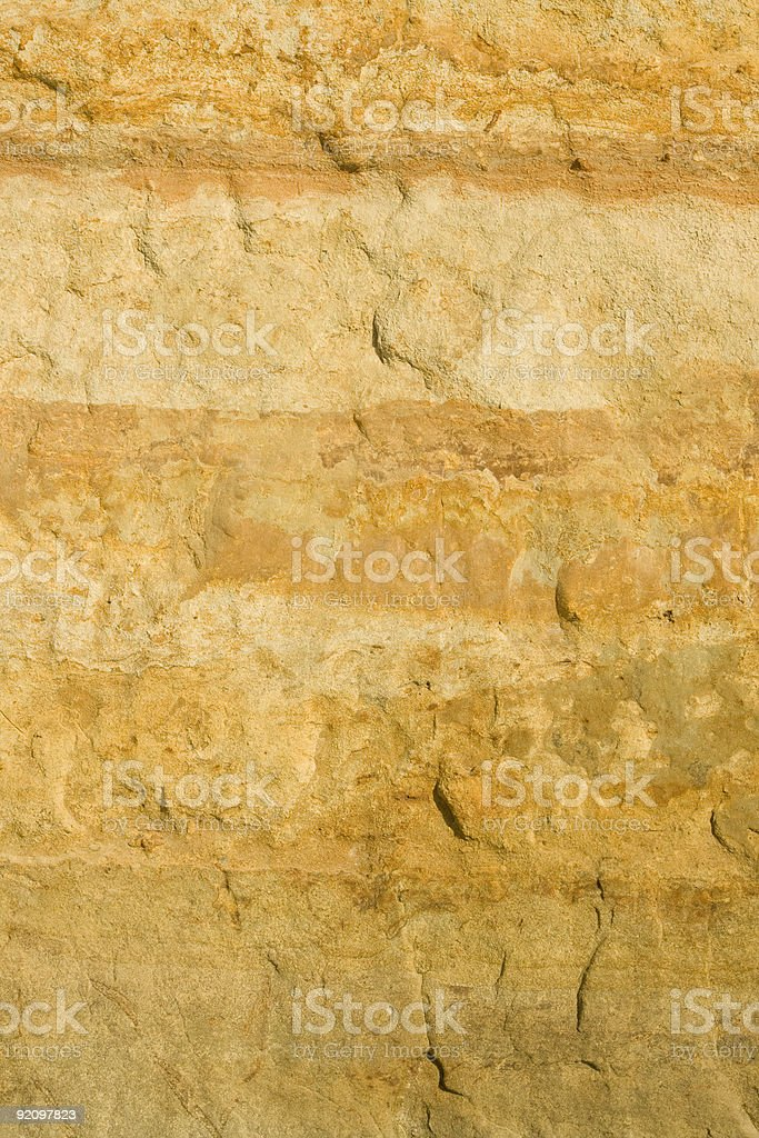 Yellow Natural Sandstone Wall, Background, Pattern, Rock, Close-up, Grunge royalty-free stock photo