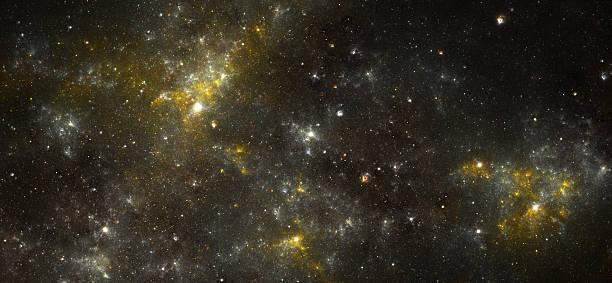 Yellow nebula stock photo