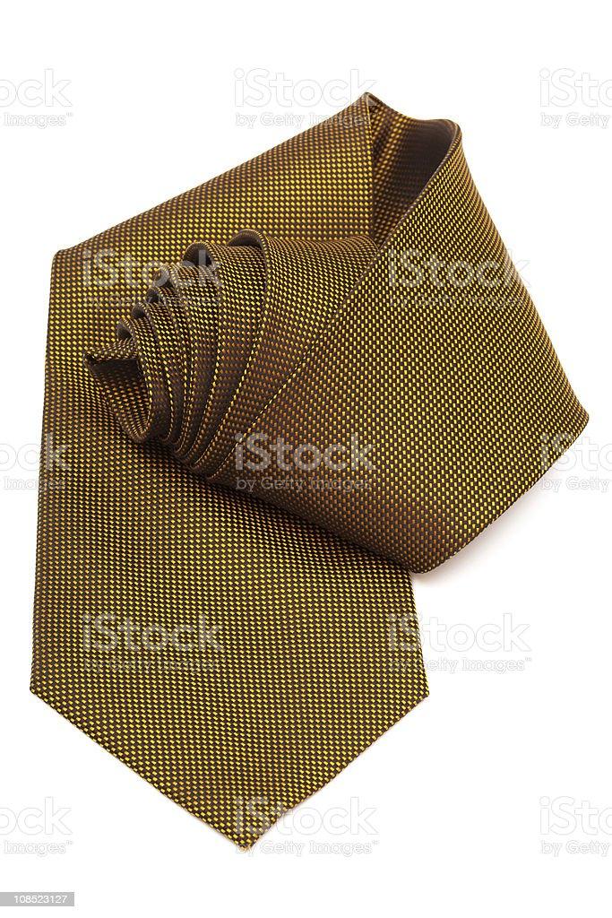 yellow necktie stock photo