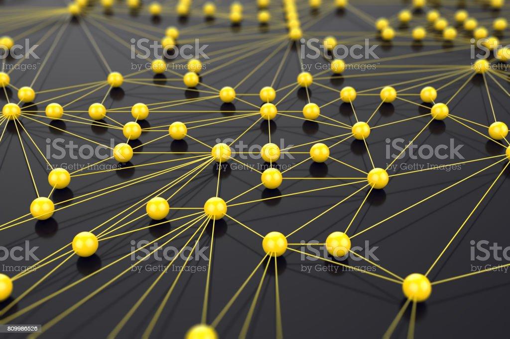 Yellow network concept stock photo