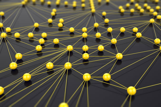 Yellow network concept stock photo