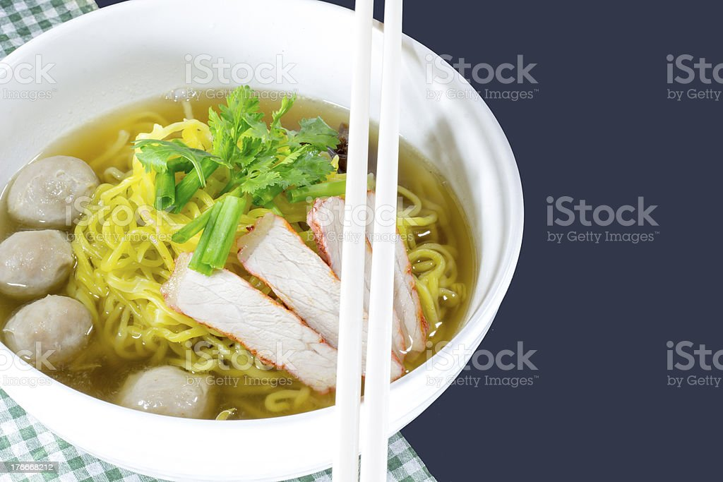 Yellow noodles  delicious royalty-free stock photo