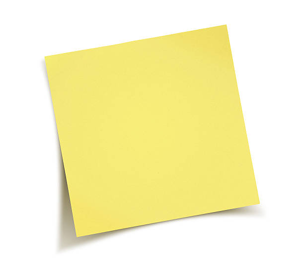 nota di carta gialla - post it foto e immagini stock