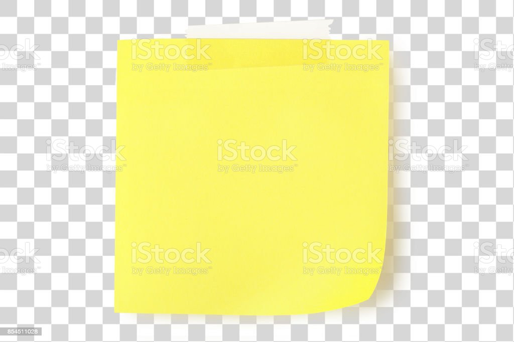 yellow note - foto stock