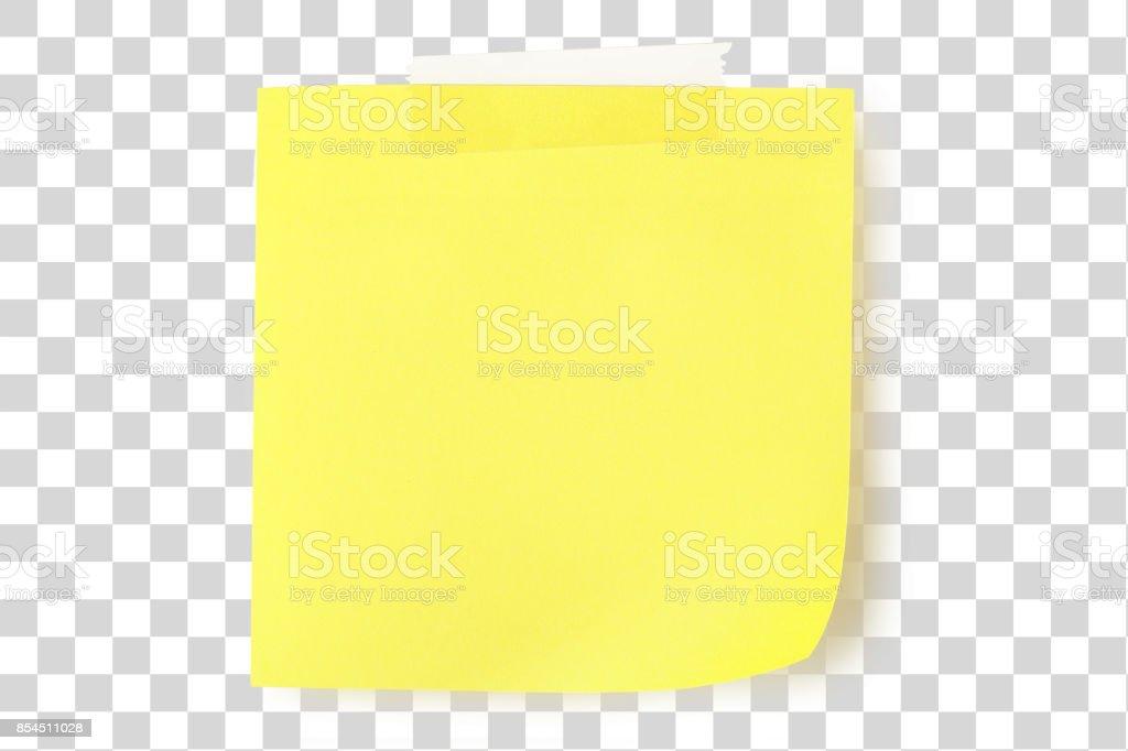 yellow note stock photo