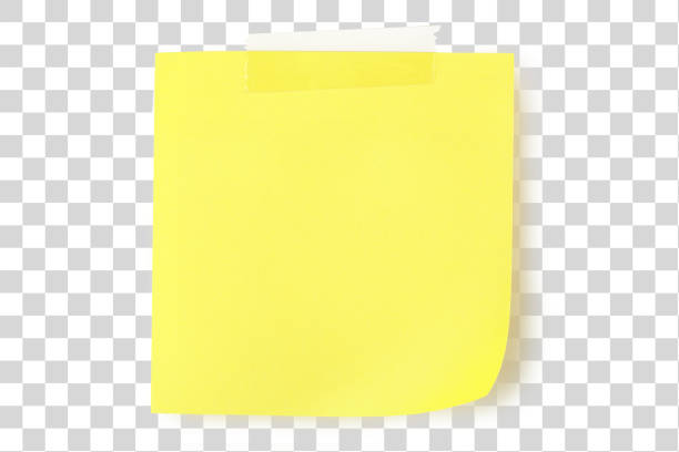 yellow note - post it foto e immagini stock