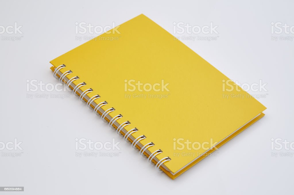 yellow notebook royalty-free stock photo