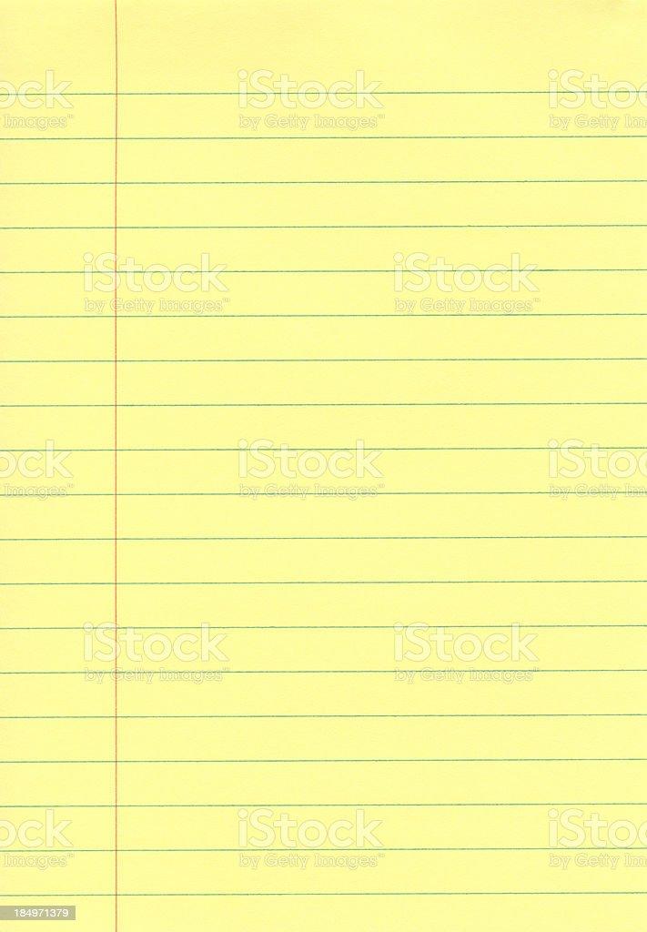Yellow Notepad stock photo