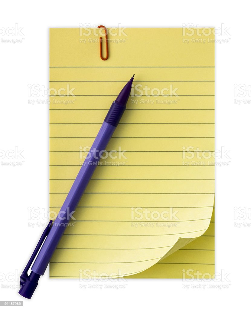 Yellow Notepad royalty-free stock photo