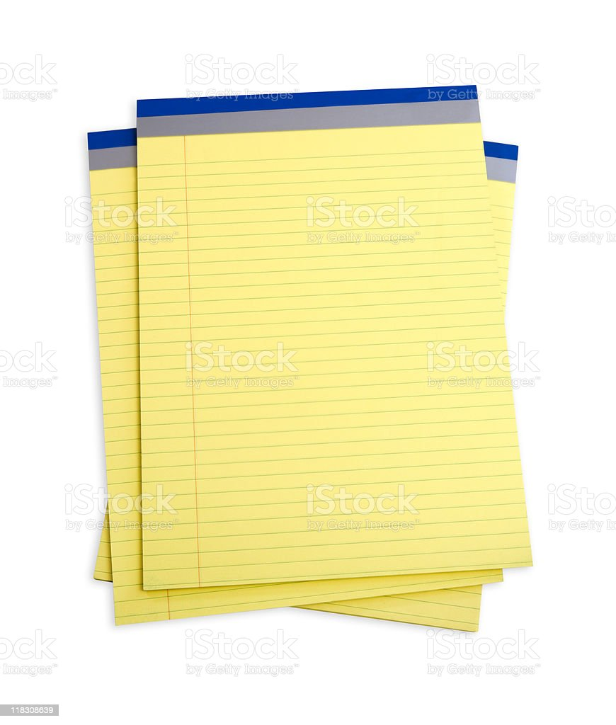 Yellow Notepads royalty-free stock photo