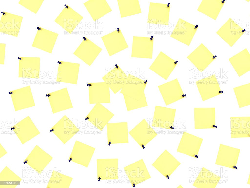 yellow notes over white background royalty-free stock photo