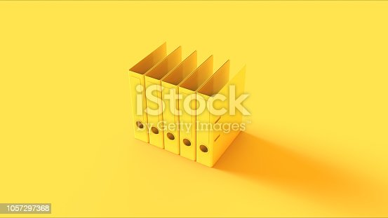 istock Yellow Office Ring Binders 1057297368