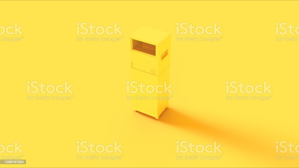 Yellow Office Server Room Cooler stock photo