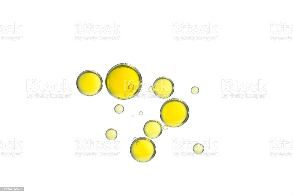 Yellow oil bubbles stock photo