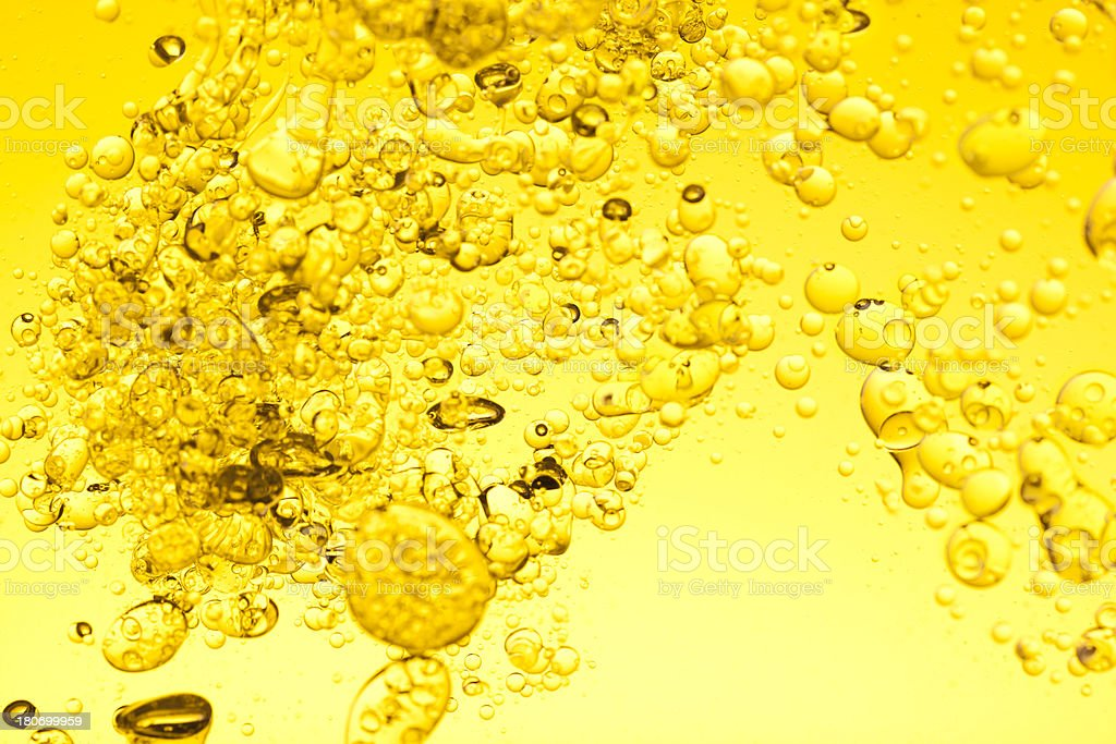Yellow oil water background royalty-free stock photo
