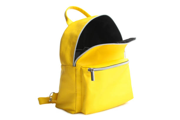 黃色打開背包 - 背囊 個照片及圖片檔