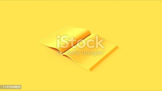 istock Yellow Open Magazine 1147044820