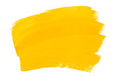 istock Yellow orange abstract aquarel watercolor background. Colorful yellow acrylic watercolor brush strokes. 1138387358