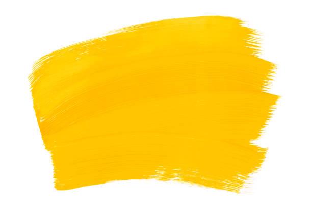 黃色橙色抽象的水族館水彩背景。五顏六色的黃色丙烯酸水彩畫筆觸。 - 黃色 個照片及圖片檔