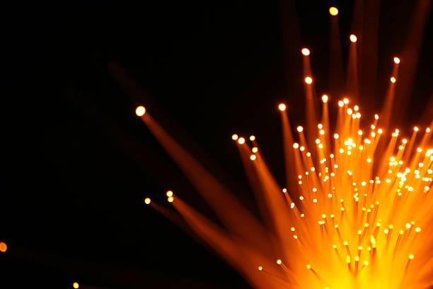 Yellow Orange Light Burst stock photo