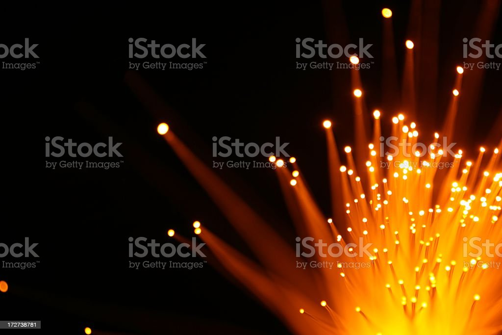 Yellow Orange Light Burst stock photo
