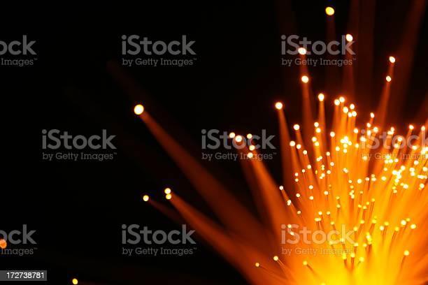 Yellow Orange Light Burst Stock Photo - Download Image Now