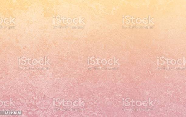 Photo of Yellow Orange Red Ombre Gradient Grunge Concrete Background Pattern Autumn Holiday Bleached Abstract Close Up Stucco Texture