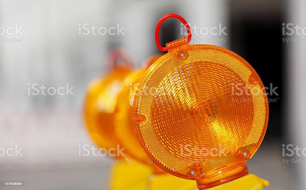 yellow orange traffic warning lamps royalty-free stock photo