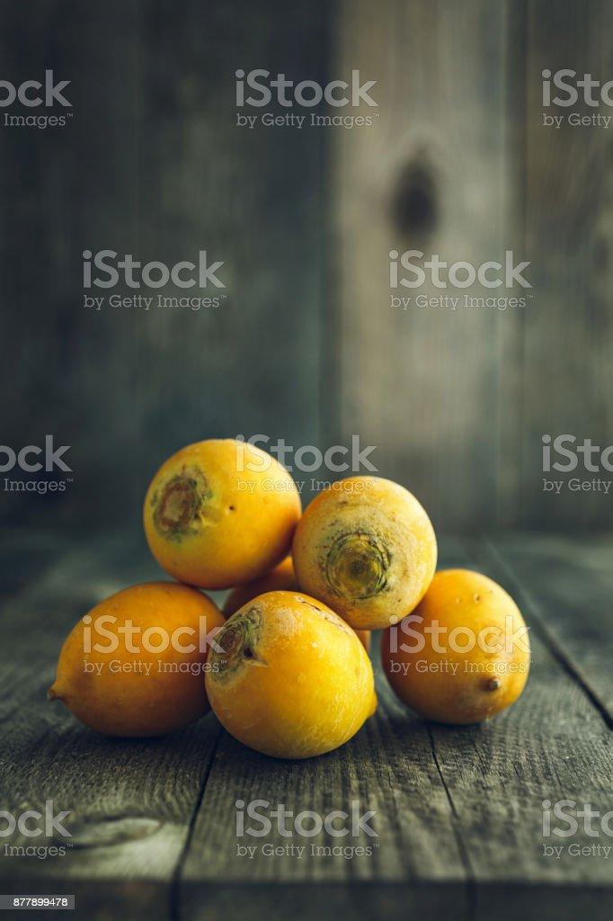 Yellow organic turnips stock photo