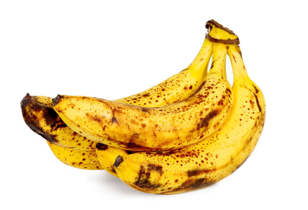 yellow over ripe bananas - ripe stock photos and pictures