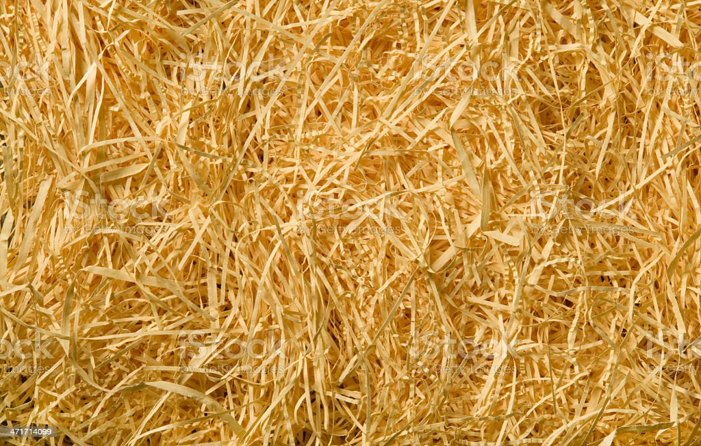 Yellow packing straw material background stock photo