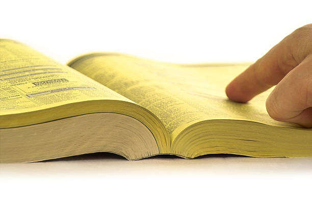 Yellow Pages Search  telephone directory stock pictures, royalty-free photos & images