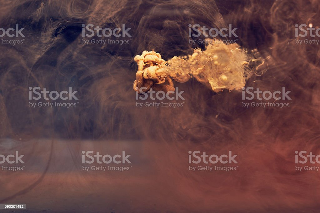 yellow  paint in water royalty-free stock photo
