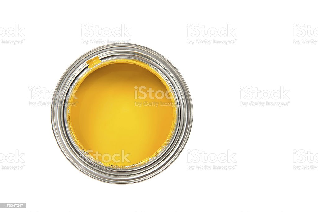 Tinta amarela - foto de acervo