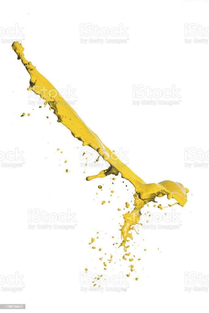 yellow paint splash royalty-free stock photo