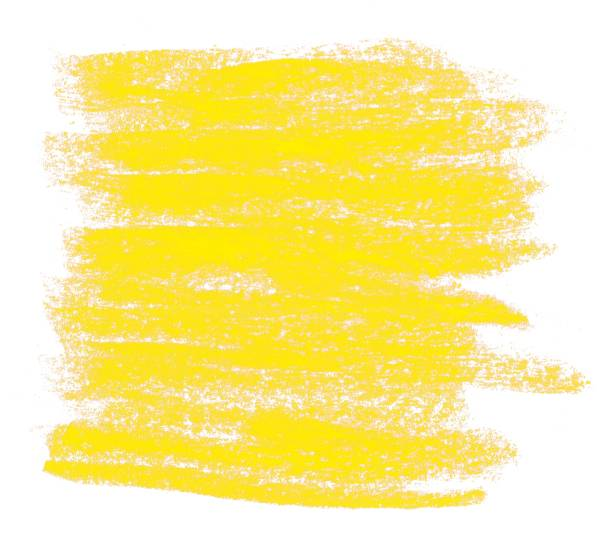 yellow painted chalk background - chalk drawing stock photos and pictures