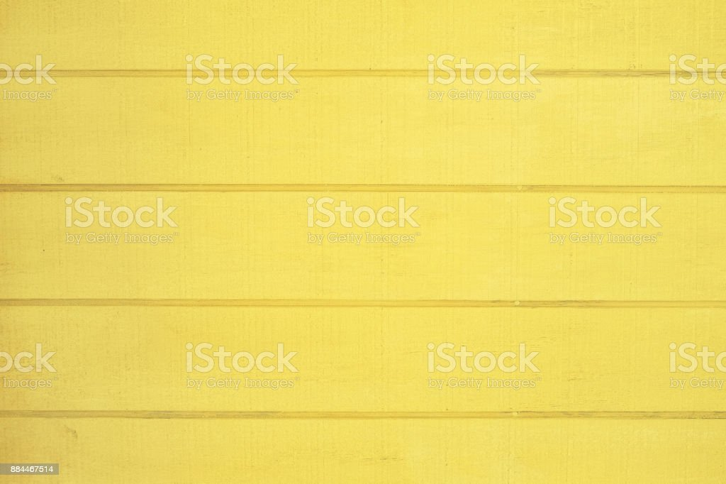 Yellow painted wood texture stock photo