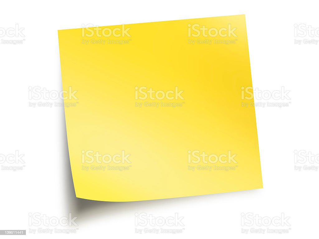 Yellow paper blank royalty-free stock photo