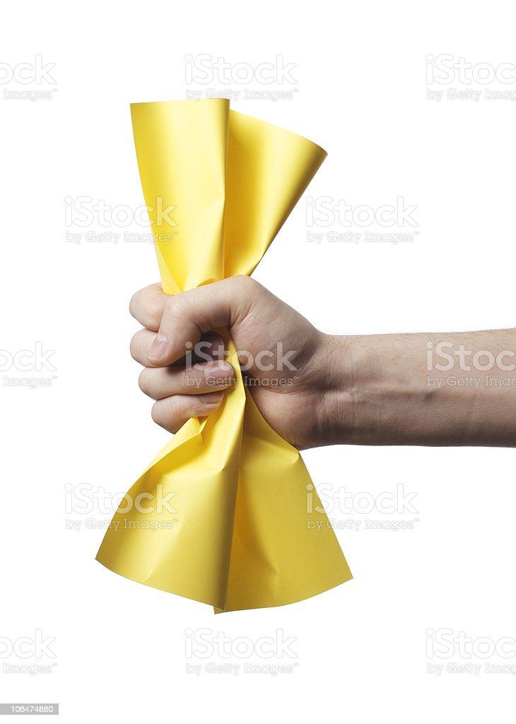 Yellow paper stock photo